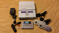 Super Nintendo SNES System Console W/ Super Mario World Controllers & Hookups