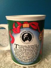 "Saturday Evening Post Norman Rockwell 4"" Christmas Mug"