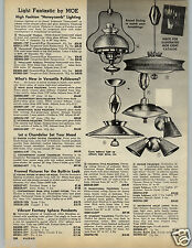 1966 PAPER AD 3 Pg Lighting Lamps Honeycomb Moe Milk Glass Lenox Acme Sphere