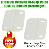COLEMAN COOLER REPLACEMENT SMALLER HINGES FOR MOST 40-68 Qt CHEST COOLERS