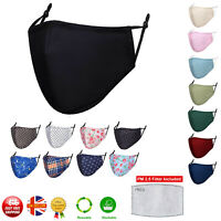 Cotton Face Mask UK Mouth Protective Layered Breathable Washable Reusable Masks