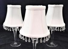 """Clip-On Lamp Shade, Lot of 3, White Bell Dangles, 3"""" x 5"""" x 4 1/2"""" H"""