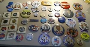 50 Vintage President Campaign Buttons Political Pinback Pin Lot Kennedy, Carter