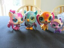 Lot of 3 Littlest Pet Shop Sing a Song Pets and Meowing Cat, Owl, Cat, Dog Sound