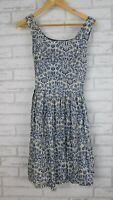 Dangerfield Fit and flare dress Blue, white floral print Sz 8