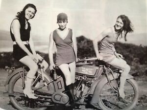 Harley Davidson Motorcycle Vintage Swim Suit Maids Poster Picture 5-078