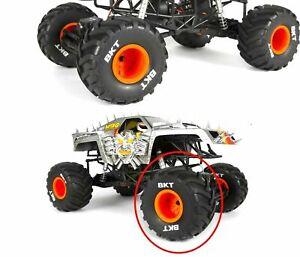 RC BKT Truck Tire Orange Rim Traxxas Grave Digger Axial AX90055