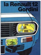 Renault 12 Gordini Early 1970s French Market Sales Brochure