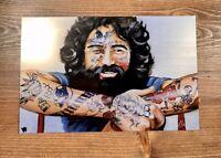 "Jerry Garcia ""Jer"" MINI MOAB Art Print Poster By Jules Muck XX/20 Grateful Dead"