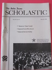 The Notre Dame Scholastic May 26, 1944 football Johnny Lujack