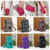 Cross-Body Mobile Phone Shoulder Bag Pouch Case Belt Handbag Purse Wallet UK
