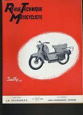 (12A)REVUE TECHNIQUE MOTO Etude VELOSOLEX / 125 SULKY SCOOTER PIATTI PRIMA NSU