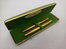 PARKER 75 GODRON 20μ GOLD PLATED FOUNTAIN PEN 14K M NIB / BALLPOINT PEN BOXED