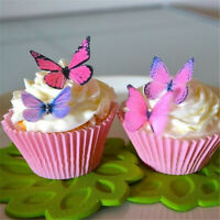 Home Kitchen Butterfly Wafer Cupcake Toppers Edible Rice Paper Cake Decoration
