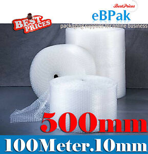 Bubble Cushioning Wrap 500mm x 100M Roll Clear P10 10mm Bubbles