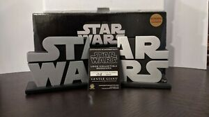 Star Wars Logo Collectible Bookends Borders Exclusive Gentle Giant NMIB