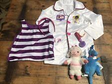Disney Doc McStuffins Doctors Coat Costume Set with Shirt W/ Bonus Size 4-6X EUC