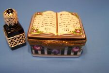 BOOK, ROSES, PERFUME authentic FRENCH LIMOGES BOX ( NEW )