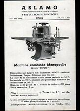 "PARIS (X°) MACHINES-OUTILS Copeau ""ASLAMO"" TRACT Période 1920-1930"