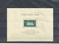 Danzig, Gdansk 1937 Michelnr: 270 **, Block 1 postfrisch **, Katalogwert € 16,00