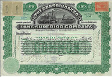 Connecticut 1901, The Consolidated Lake Superior Company Stock Certificate