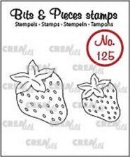 crealies Clearstamp Bits & piezas no.125 FRESAS