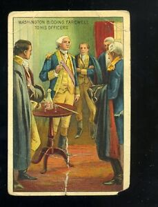 1910 T70 Historical Events George Washington Bidding Farewell FLEXO Giants Back