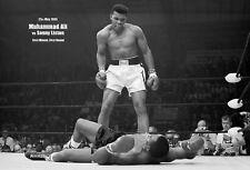 MUHAMMAD ALI vs SONNY LISTON 01 (BOXING POSTER) KEYRINGS-MUGS-PHOTOGRAPH