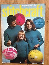 Vintage Stitchcraft Magazine. November 1973