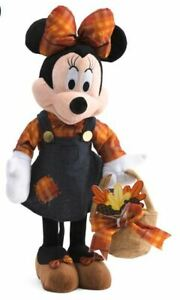 Fall Holiday Thanksgiving Disney 23 in Tall Minnie Mouse Harvest Greeter NWT