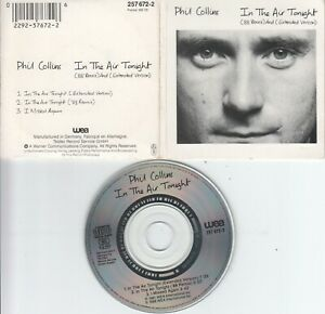 Phil Collins  CD-SINGLE  IN THE AIR TONIGHT  ( 3inch )  88' REMIX