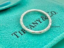 Tiffany & Co Sterling Silver Sz 5.75 Picasso Hammered Stackable Narrow Ring 2019