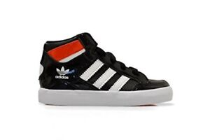 Infant's Adidas Hard Court Hi I - M21485 - Black White Red Trainers