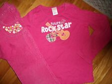 GYMBOREE 2 PC TOP SIZE 5 6 7 YEARS OUTFIT SHIRT PANTS CORDUROY POPSTAR ACADEMY