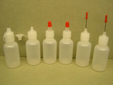 Assortment of Six 1oz Plastic Bottles w/ Caps