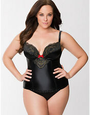 NEW CACIQUE BY LANE BRYANT PLUS SIZE SHIMMER IMBROIDERED CORSET SZ 18/20