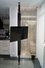 TV Säule, TV Pole Stand, TV Ständer drehbar, TV Standfuss 2.m-2.70m, schwarz