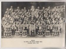 1929 Photo - Drums - 2nd Battn. The Royal Sussex Regt. - Kuldana India 1929