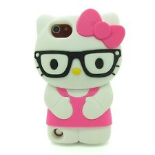 For Apple IPod Touch 5 5th Gen 3D  Hello Kitty Glasses Character Case Cover - HP