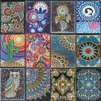 Mandala DIY 5D Special Shaped Diamond Painting Cross Stitch Kits A5 Notebook