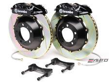 Brembo Rear GT Brake P Caliper Black 345x28 Slot Rotor Lancer EVO Evolution X 10