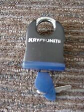 Kryptonite Heavy-Duty Solid Steel padlock w 2 keys 2x3.25 inches used excell  JB