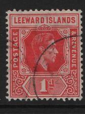 Leeward Island SG98, 1d Scarlet DIE A  FINE USED.