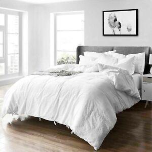 Duvet Cover Set 3 Piece Soft Hypoallergenic Lightweight Pillow Shams Corner Ties