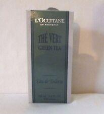 L'occitane Original package GREEN TEA, THE VERT  3.4 fl oz/100 ml NIB Rare
