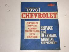 service repair manuals for 1976 chevrolet camaro for sale ebay rh ebay com 1980 Camaro 1973 Camaro