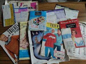 lot ancien tricot magasine 3suisses années 50 à 60