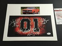 Dukes of Hazzard Signed JSA Witnessed John Schneider Tom Wopat Catherine Bach