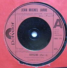 "JEAN MICHEL JARRE - Oxygene - Excellent Condition 7"" Single Polydor 2001 721"