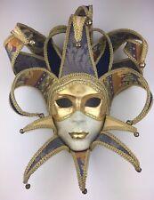 Venetian Carnival Arlecchino Mask, handmade in Venice, Italy, NWT
